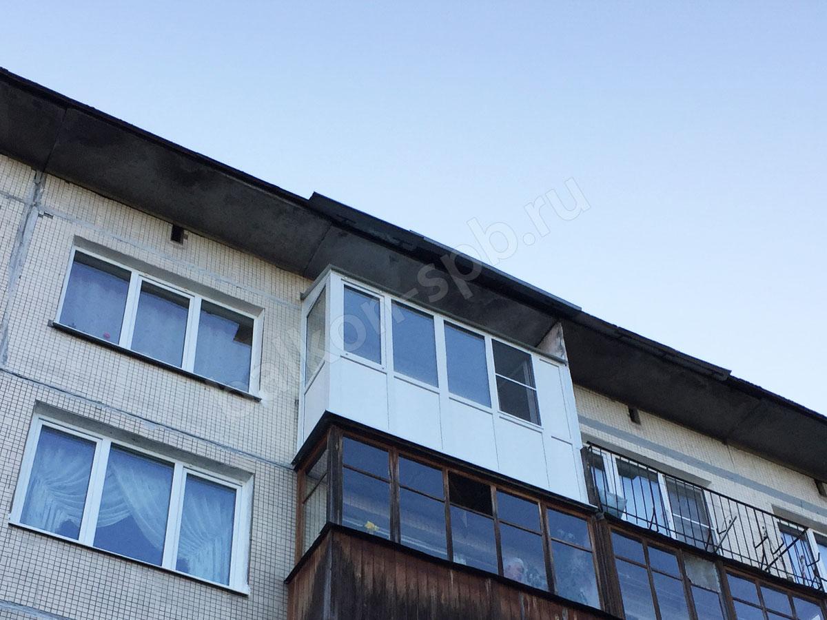 Установка окон от пола с крышей