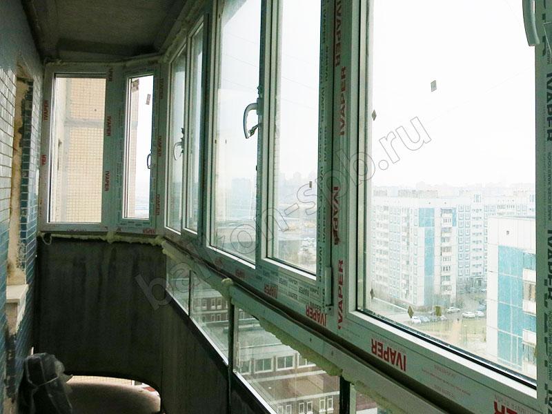 Остекление балкона с подрамниками
