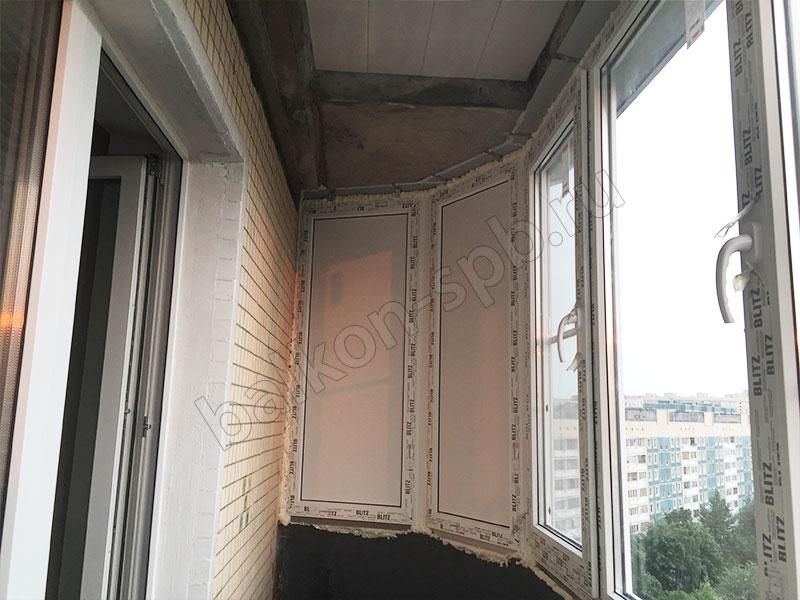 Остекление закругленного балкона