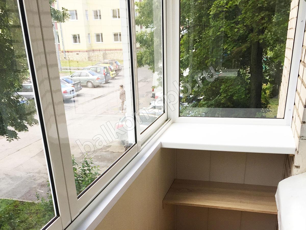 Установка раздвижных алюминиевых окон