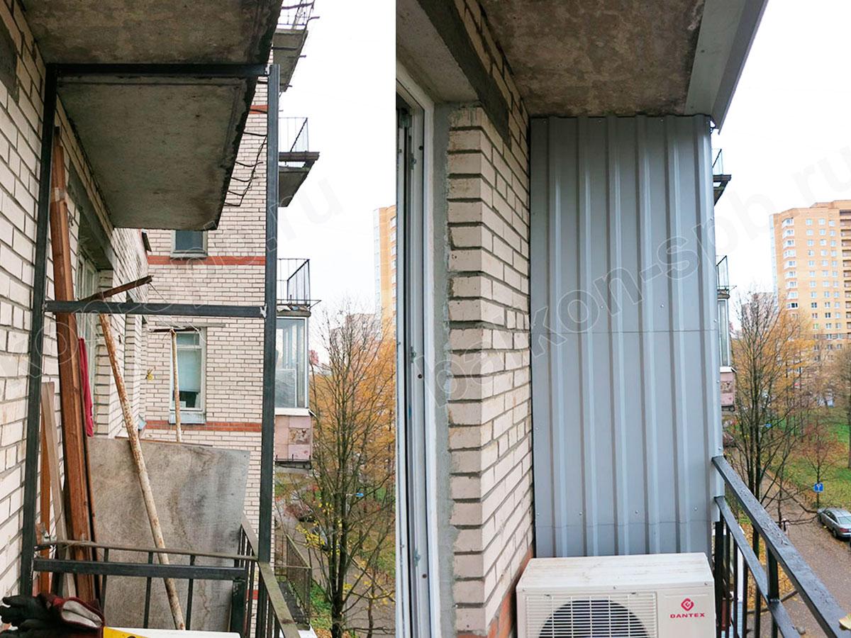 Монтаж перегородки между балконами