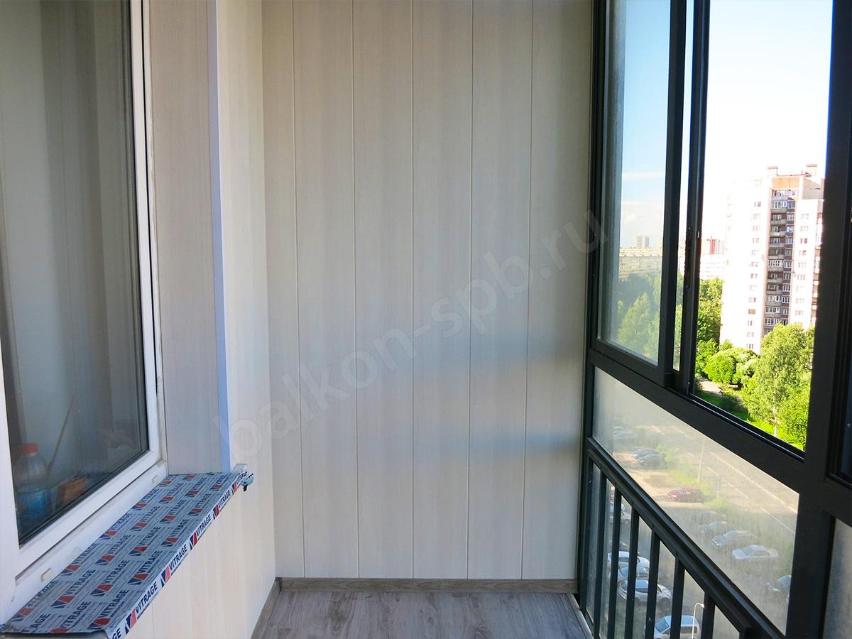 отделка балкона панелями внутри